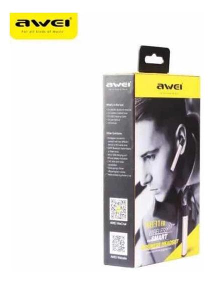 Fone De Ouvido Bluetooth Smart Awei A831bl Funciona Whasapp