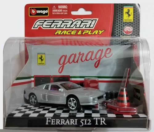 Imagen 1 de 3 de Autos Coleccion Burago Garage - Ferrari 512 Tr Escala 1:43