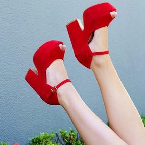 Sapatos Femininos Sandálias Plataforma Calcanhar Fechado