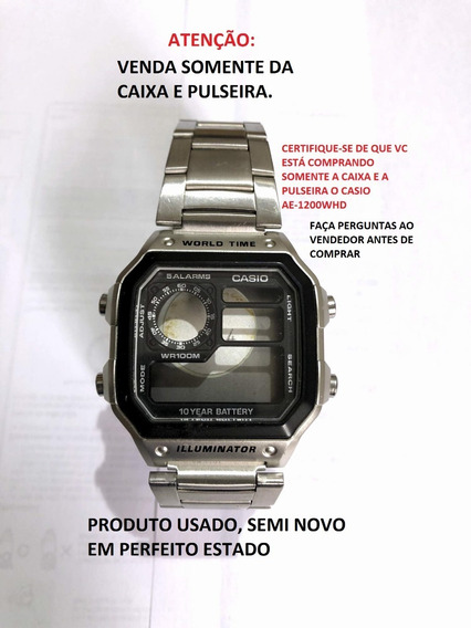 Casio Ae 1200whd Relogio Aço Nf Crono 5alarm Wr100 Ae1200whd