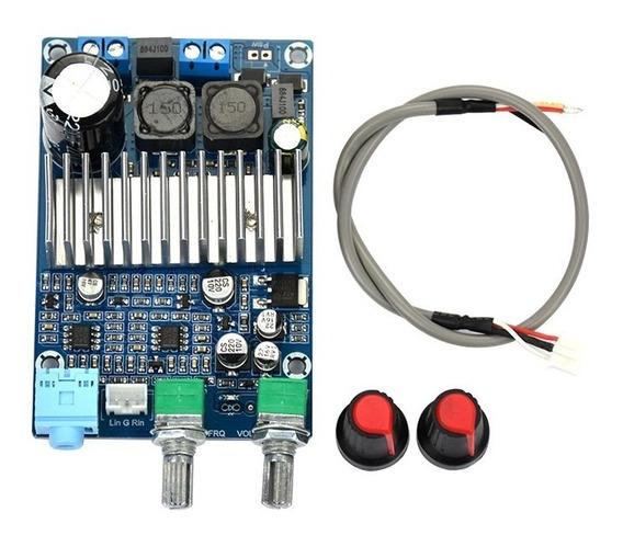 Placa Amplificador Digital Subwoofer C Ajuste Corte Low Full