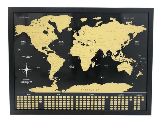 Mapa Do Viajante Raspadinha 82 Cm X 60 Cm