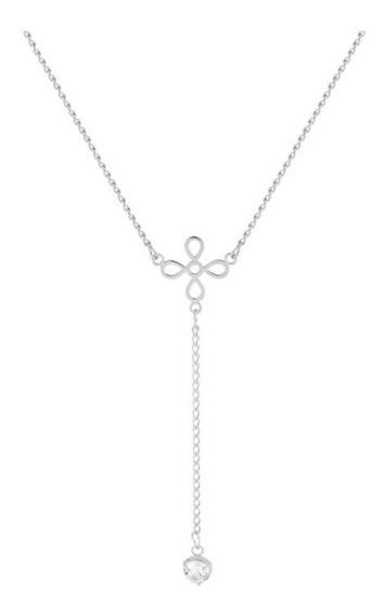 Colar De Aço Convex Gravata Flor Com Ponto De Luz 416745