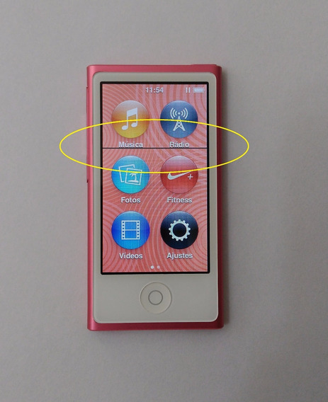 iPod Nano 7 16gb Rosa Usado - Linha Lcd Leia Parcelar Mf0gm
