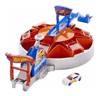 Hot Wheels Play Set Garage Impulsor (envio Gratis)+