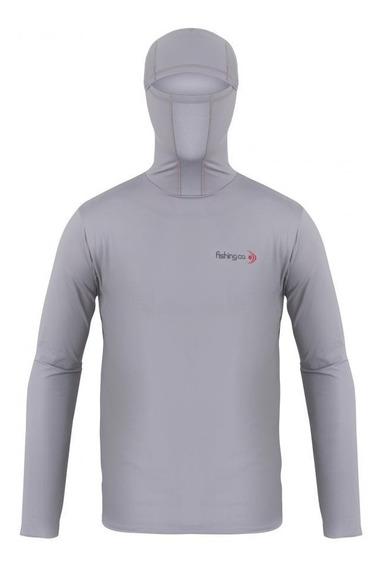 Camiseta Ninja Dryfit Masc Cinza Ufp 50+ Fishing Co. Frete Grátis