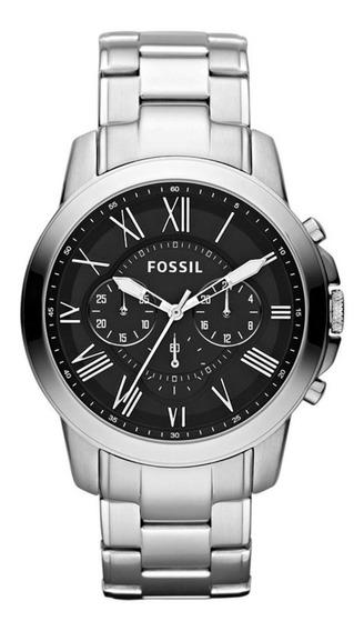 Relógio Masculino Prateado Fossil Original Fs4736/1pn Top
