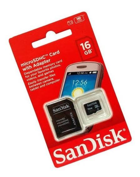 Kit 10 Pçs Cartão Memória Sandisk 16gb Clas/4 Sdhc Original