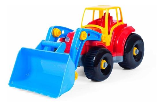 Brinquedo De Montar Desmontar Trator Escavadeira Brinquedo