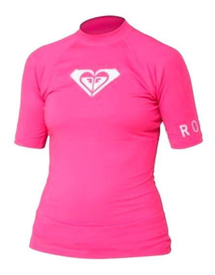 Playera Deportiva Mujer Ajustable Cuello Redondo Rosa Roxy