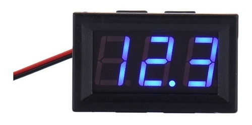 Mini Voltímetro 2.5-30vdc Led 3 Dígitos Azul Arduino