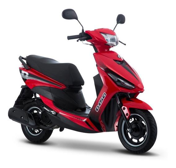 Moto Italika D150 Rojo Negro