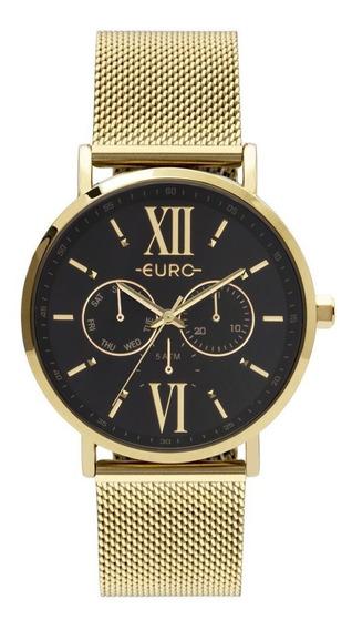 Relógio Euro Multi Glow Dourado Feminino Eu6p29ahcbp/4p