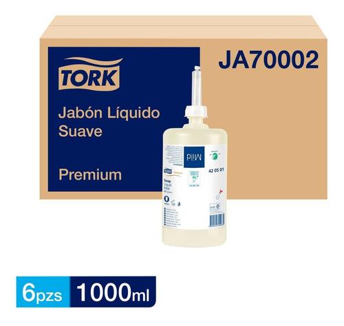 Jabón Líquido Suave Tork Para Dispensador 6x1000 Ml.
