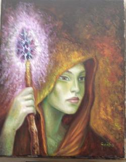 Pintura Sabiduría Óleo Sobre Tela