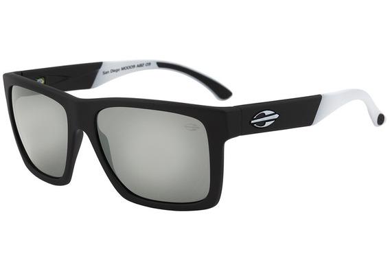 Óculos De Sol Mormaii San Diego Preto E Branco Lente Preta