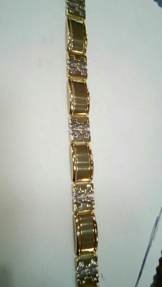 Pulcera De Caballero 14k Oro Fancy