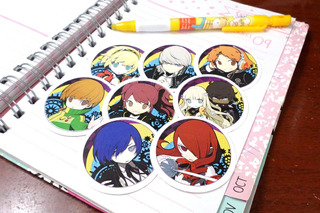 Set De 8 Stickers Circulares De Anime - Persona