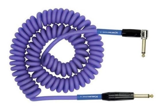 Cable Plug Espiralado Guitarra Kirlin Imk-182bfgl 9 Metros