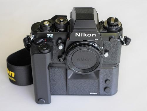 Nikon F3 Hp C/ Motor-drive Md-4 E Alça Nikon - Muito Nova