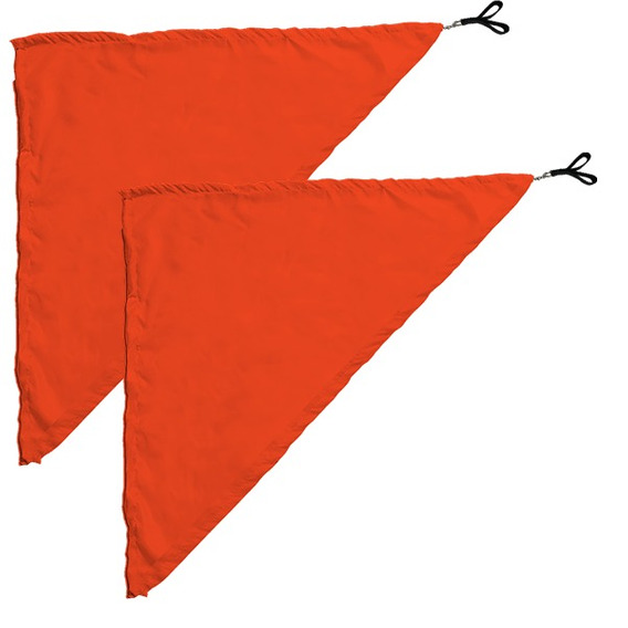 Swing Flag Triangular Laranja - 70 Cm X 70 Cm