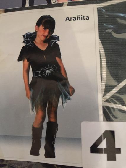 Disfraz Arañita Halloweenn Talle 4-marca Candela