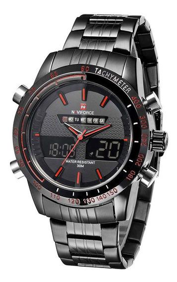 Naviforce Aço Inoxidável 3atm Impermeável Moda Relógio D