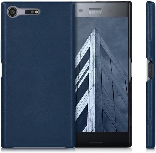 Imagen 1 de 6 de Funda Kwmobile Sony Xperia Xz Premium Leather Dark Blue