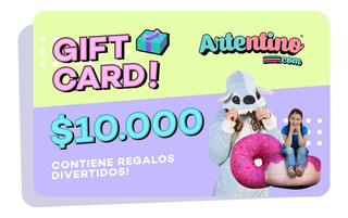 Gift Card Tarjeta Regalo A Domicilio Artentino Adultos Niños