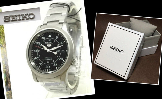 Relógio Seiko 5 Militar / Automático Pulseira Aço Snk809-k1