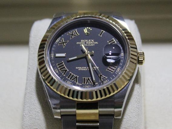 Rolex Datejust Ouro E Aço