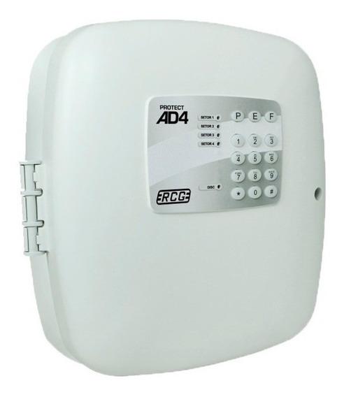 Central De Alarme Protect Ad4 Rcg 4 Setores C/ Discadora