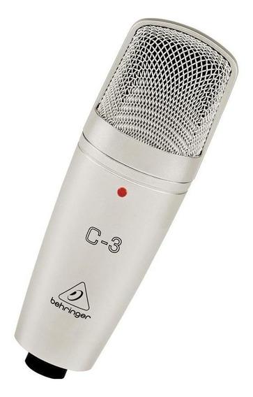 Microfone Behringer C-3 condensador cardióide e omnidirecional prateado