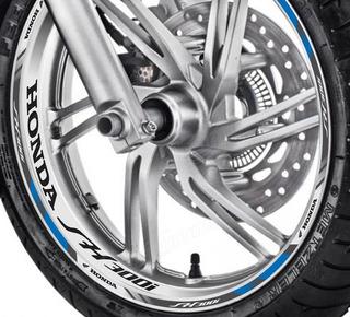 Friso + Adesivo Interno Refletivo D1 Roda Moto Honda Sh 300i