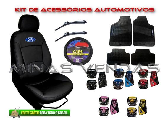 Super Kit Capa Banco Courvin Couro Automotivo Fiesta 2000