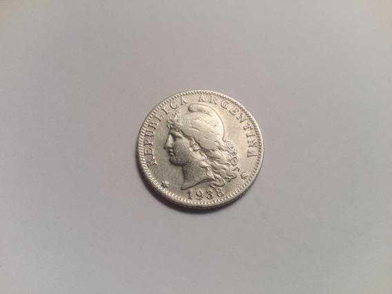 Moneda Argentina 20 Centavos Año 1938
