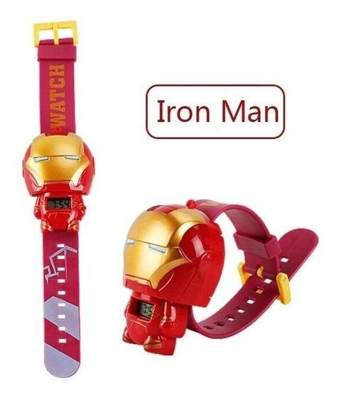 Relógio Infantil Desenho Animado Homem De Ferro, Iron Man