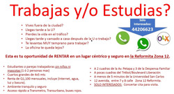 Renta De Cuarto Y/o Habitacion La Reformita Zona 12