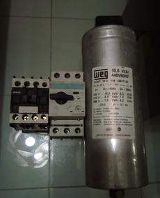 Kit: Capacitor 10kvar + Disjuntor Motor + Contator