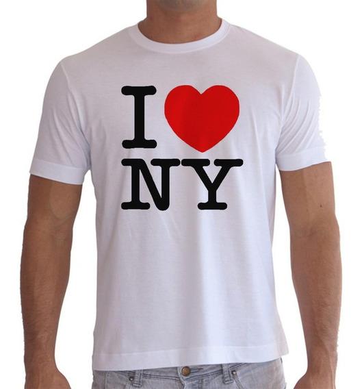 Camiseta Ou Baby Look I Love Ny Nova Iorque New York