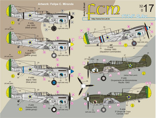 Decalque Fcm 32017 Curtiss P-40 Decal Fab 1/32