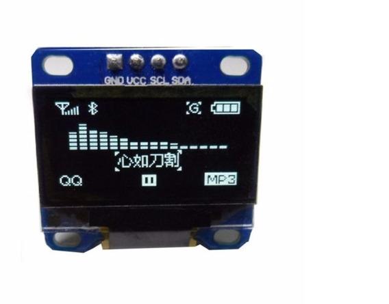 Display Oled 128x64 0.96 I2c Branco Azul Amarelo P/ Arduino
