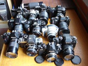 Nikon - Coleção 12 Câmeras Slr Analógicas Com Objetivas