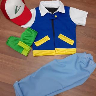 Disfraz Pokemon Ash Completo Con Accesorios Niño