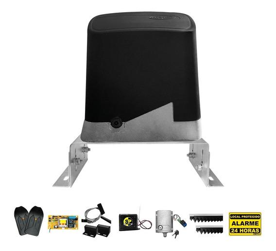 Kit Motor Portão Eletrônico Ppa Dz 1/4 + Suporte Trava Tx