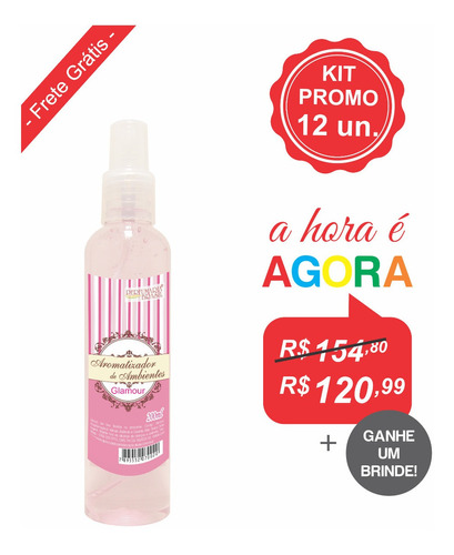 Kit Aromatizador Ambientes 200 Ml (12un.)