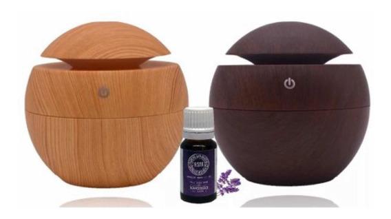 Humidificador Esencia De Regalo Difusor Aromaterapia Luz Led