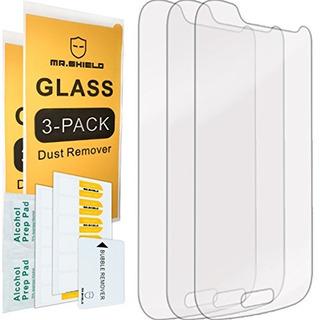3pack Mr Shield Para Samsung Galaxy S4 Mini Vidrio Templado