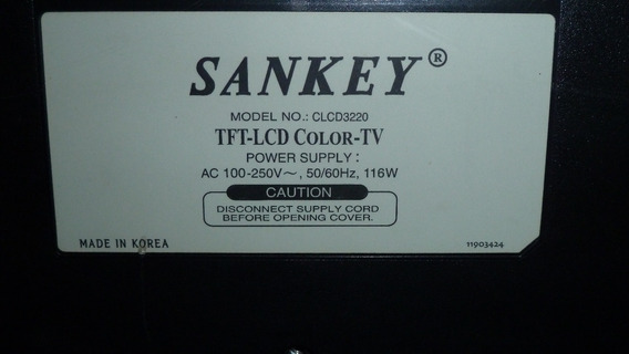 Tv 32 Sankey Lcd Stereo Usado Para Reparar O Repuestos.