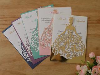 Invitacion De 15 Princesa Calada Quince Años Tarjetas